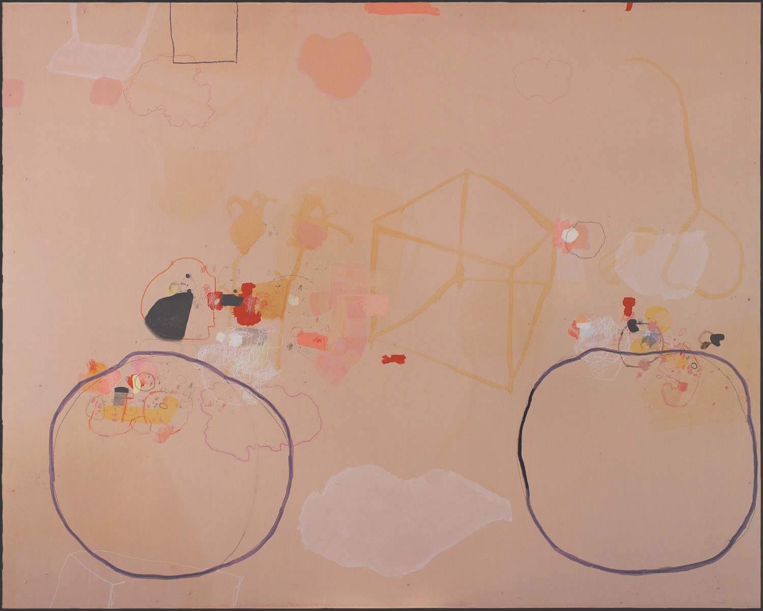 Kim Pieters:the painting 'In my room, the world is beyond my understanding, But when I walk I see that it consists of three or four hills and a cloud'